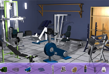 Find the Objects in Gym (flash игра)