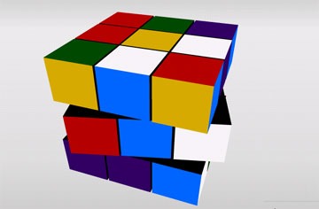 Кубик Рубика (flash игра)