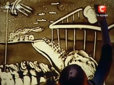 Ксения Симонова - Песочная анимация (смотреть всем!!!)
